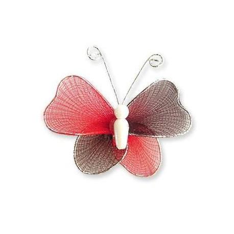 Motylek druciany - czarno-czerwony