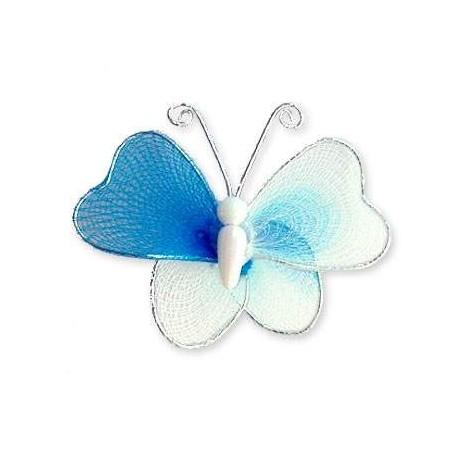 Motylek druciany - niebiesko-biały