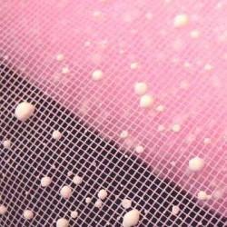 Siatka dekoracyjna z bryzą A4 -  jasno-różowa