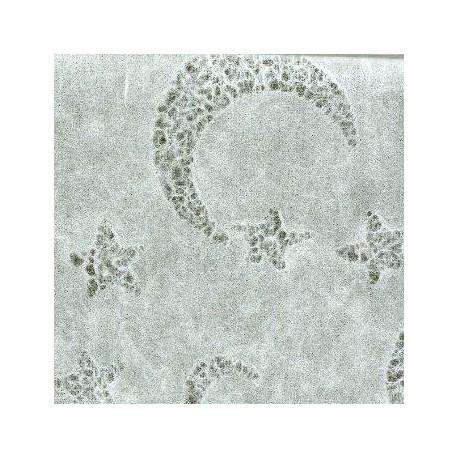 Machined Papier - wytłaczany 50x75,5cm - biały gwiazdy i księżyc