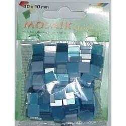 Mozaika ton-in-ton niebieska 10x10 mm 190 elementów