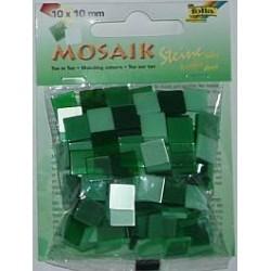 Mozaika ton-in-ton zielona 10x10 mm 190 elementów