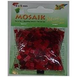 Mozaika ton-in-ton czerwona 700 elementów