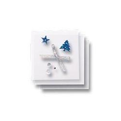 Zestaw elementów do dekorowania - jodły i gwiazdy