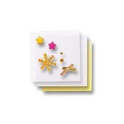 Zestaw elementów do dekorowania - gwiazdki 3D