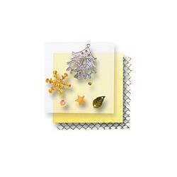 Zestaw elementów do dekorowania - choinki srebrne