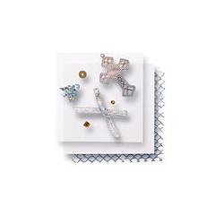 Zestaw elementów do dekorowania - krzyże srebrne