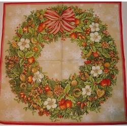 Serwetki do decoupage - Duża girlanda świąteczna