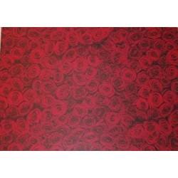 Papier transparentny 23x33cm - czerwone róże