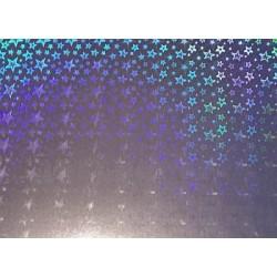 Karton holograficzny gwiazdy srebrne