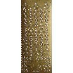 Naklejki samoprzylepne gwiazdki mniejsze i większe złote