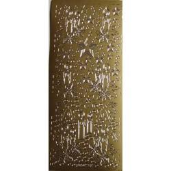 Naklejki samoprzylepne świeczki i gwiazdki złote