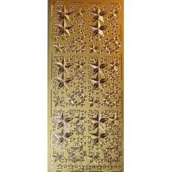 Naklejki samoprzylepne gwiazki w gwiazdkach złote