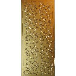 Naklejki samoprzylepne gwiazdy classic złote