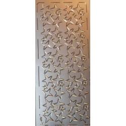 Naklejki samoprzylepne gwiazdy classic srebrne
