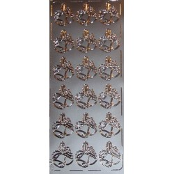Naklejki samoprzylepne dwa dzwonki srebrne