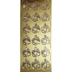 Naklejki samoprzylepne dwa dzwonki złote