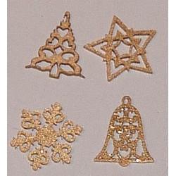 Elementy ażurowe złote 4 szt.