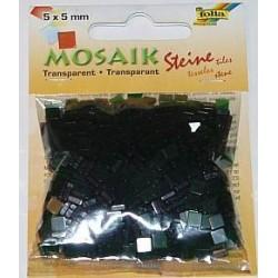 Mozaika transparentna ciemno-zielona 830 elementów.