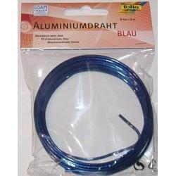 Drut aluminiowy twardy, ozdobny, niebieski 2 mm/5 m