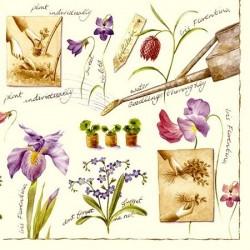 Serwetki do decoupage - konewka i wiosenne kwiatki