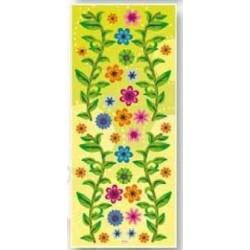 3D effect sticker drobne kwiatki