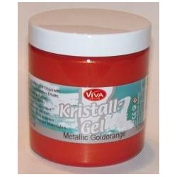 Kristall Gel 250 ml - metallic goldorange
