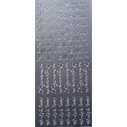 Naklejki samoprzylepne polskie napisy srebrne