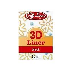 Konturówka 3D 20ml - Liner 3D (black)