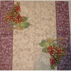 Serwetki do decoupage - dwa winogrona czerwono-zielone 1