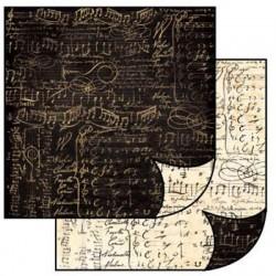 Papier do scrapbookingu dwustronny 31,2x30,3 cm - nuty