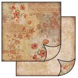 Papier do scrapbookingu dwustronny 31,2x30,3 cm - maki i pismo