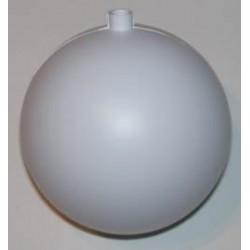 Bombka plastikowa biała 10 cm