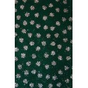 Filc z brokatem zielony, srebrne anioły