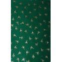 Filc z brokatem zielony, złote choinki