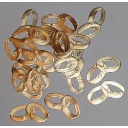 Obrączki papierowe złote