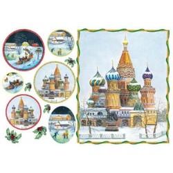 Papier ryżowy do decoupage DFS90 - zima w Rosji