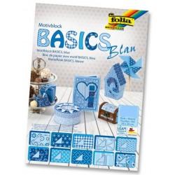 Karton motywowy Basics niebieskie