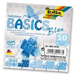Papier do origami Basics 10 cm mix niebieskie