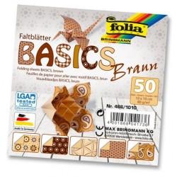 Papier do origami Basics 10 cm mix brązowe