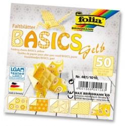Papier do origami Basics 10 cm mix żółte