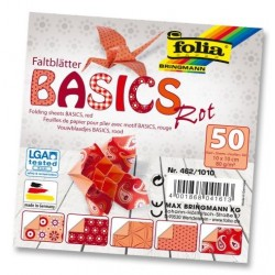 Papier do origami Basics 10 cm mix czerwone