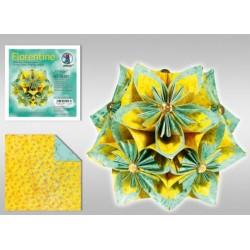 Papier do origami Florentine Vintage 10 cm zielono-żółty