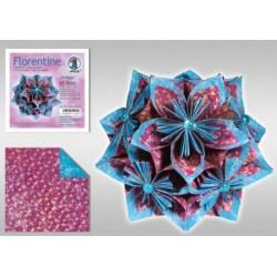 Papier do origami Florentine Vintage 10 cm czerwono-niebieski