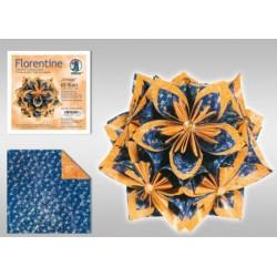 Papier do origami Florentine Vintage 10 cm zielononiebiesko-poma