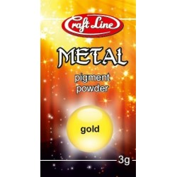 Metallic Pigment Powder 3g (gold) - Pigment złoty