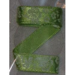 Tasiemka satynowana 9 mm kwiaty i liście 7