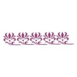 Szablon Bordiurowy 24 pąki kwiatów 6 x 28 cm