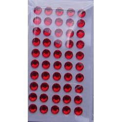 Kryształki samoprzylepne czerwone 6 mm