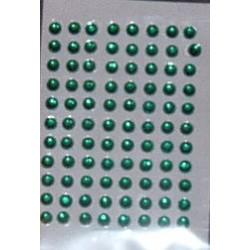 Kryształki samoprzylepne ciemnozielone 4 mm